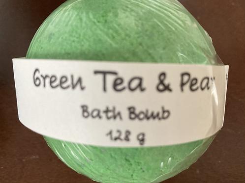 Green tea & Pear Bath Bomb