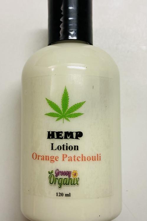 Hemp Lotion-4oz Orange Patchouli