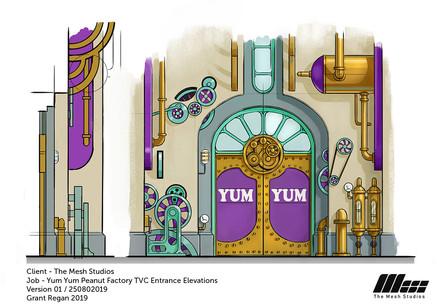 Conceptual Idea for Yum Yum Factory