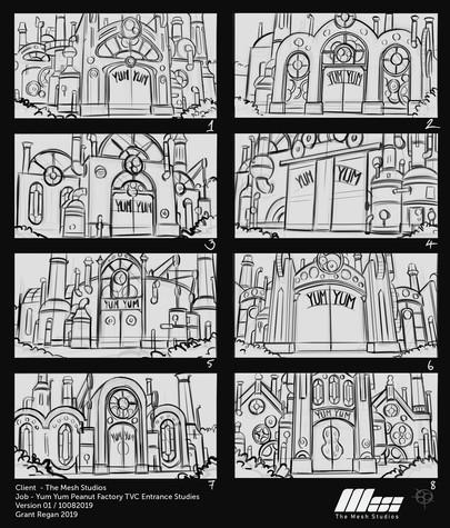 Initial Storyboard via Grant Regan