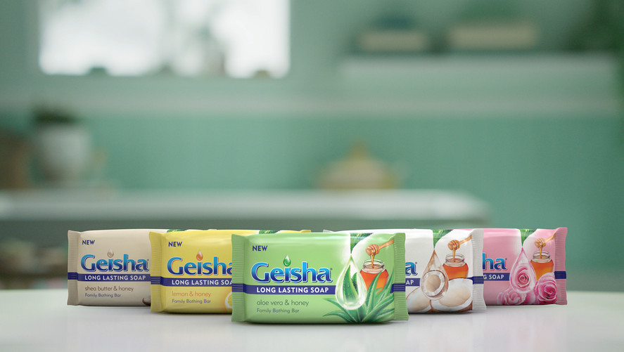 Unilever - Geisha Soap Bar Range