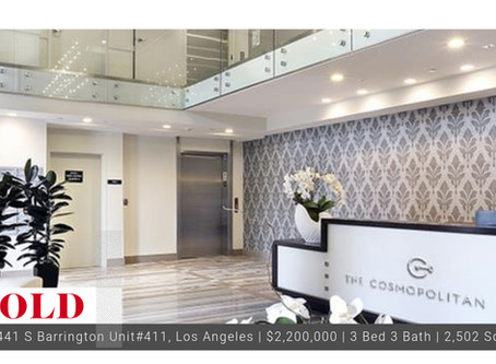 #Throwback 2016 Sold New Construction Penthouse Condo in the Cosmopolitan of Brentwood, 90049.