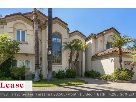 Tarzana Lease Available $8,500/Month!