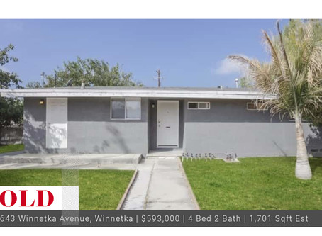 Sold Winnetka Home with Detached Garage!