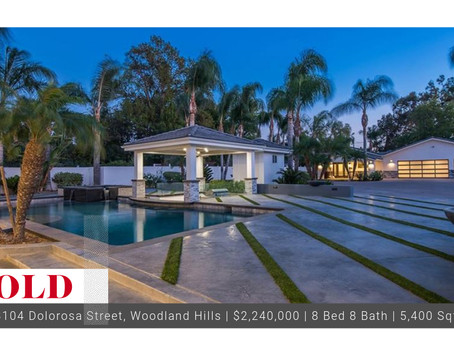 Sold in the Prestigious Walnut Acres of Woodland Hills
