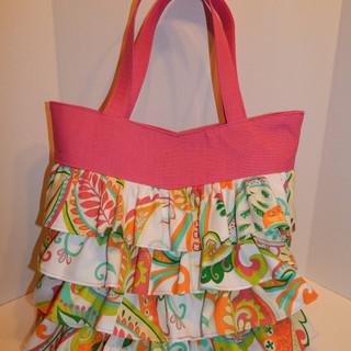 Ruffled Handbag
