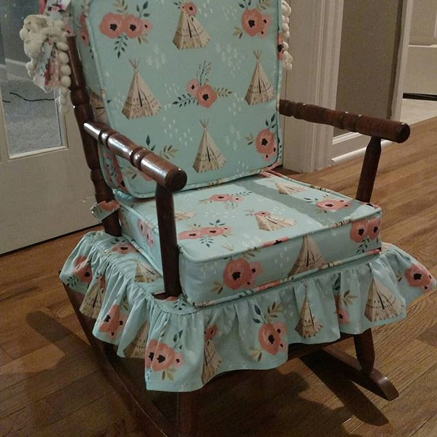 Vintage rocking chair cushions