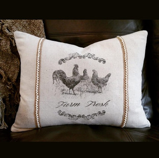 Farmhouse pillow I created for a dear sw