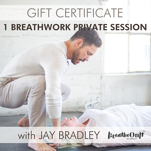 GIFT CERTIFICATE for 1 PRIVATE SESSION