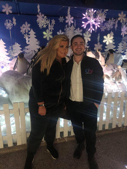 Liverpool's Famous Grotto Gemma Collins and Mark Powell