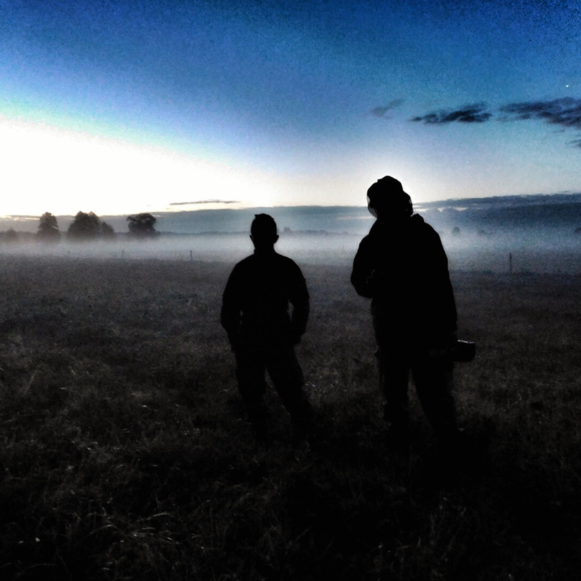 Poranna wschodząca mgła