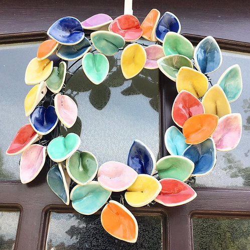 Ceramic Door Wreath