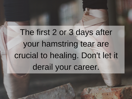 5 Steps to Healing your Torn Hamstring and Getting back onto the Dance Floor