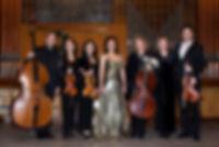 Il Soprano Liliana Marin con alcuni componenti l'Orchestra Nazionale.