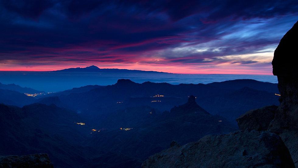 Mountains at twilight