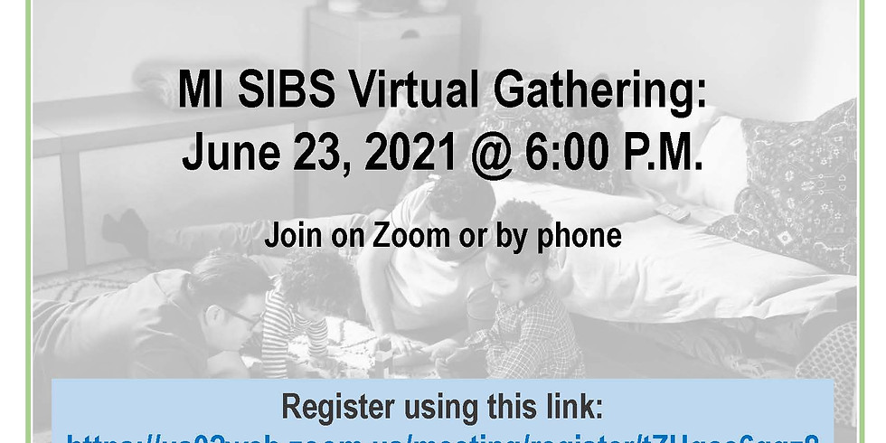 MI SIBS Virtual Gathering: Supporting Siblings of Kids  and Adults with Disabilities