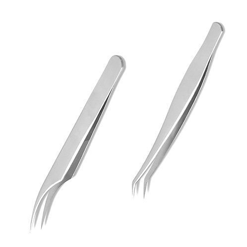mbeauty4all 2x Stainless False Eyelashes Extension Tweezers