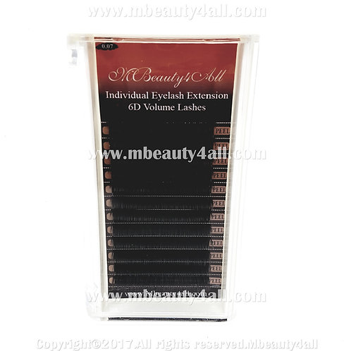 Mbeauty4all Silk 0.07 - C /D-  Curl Individual Russian XD Volume Lashes