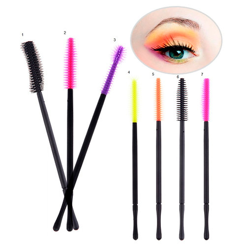 MBEAUTY4ALL MASCARA BRUSHES WANDS DISPOSABLE EYELASHES EXTENSION SILICONE