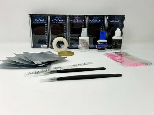 Eyelash Extension Kit Individual Lashes Starter Professional Practice kit N;1