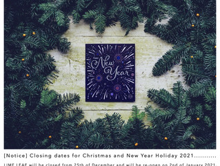 [Notice] Closing dates for Christmas and New Year Holiday 2021