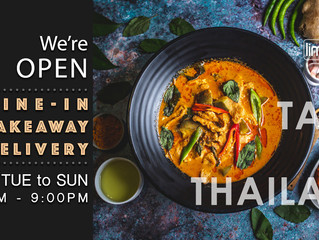 We're open : dine-in, takeaway & delivery