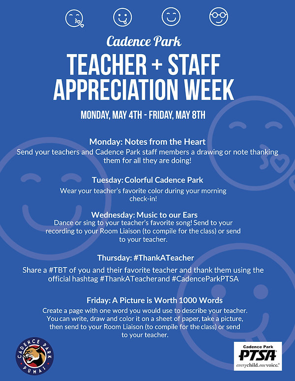 Cadence Park Teacher Appreciation Week (