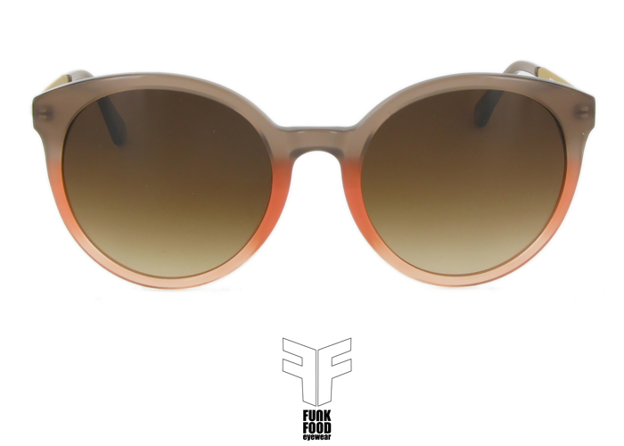 Mochito  C5 sweet peach with brown gradient lenses