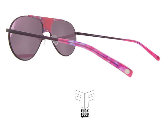 Caipirinha C3 deep purple BASE 2 pink flash mirror lenses inside