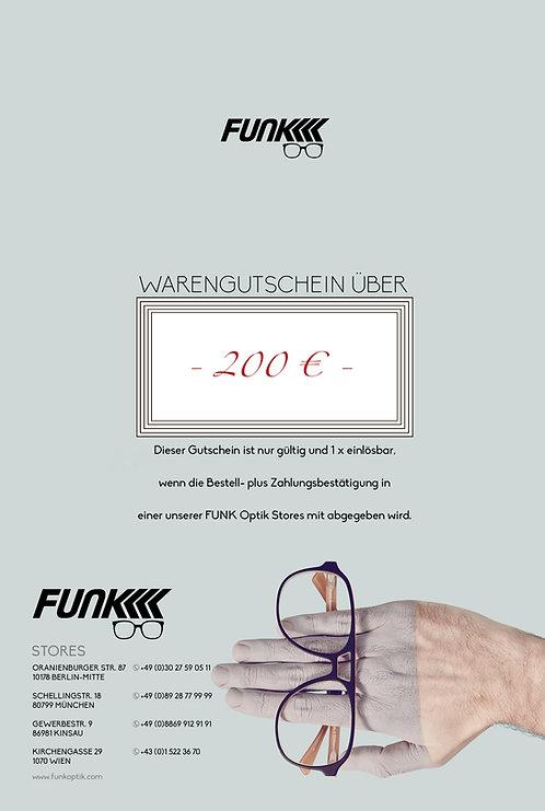 Gutschein über 200 € Wert