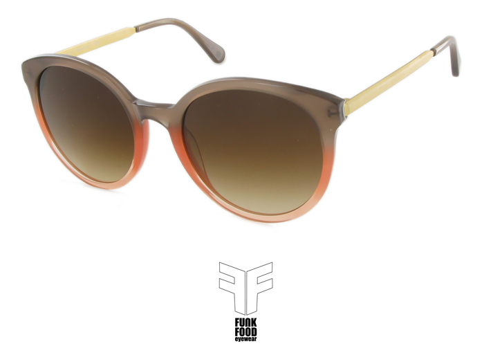 Mochito S C5 sweet peach with brown gradient lenses