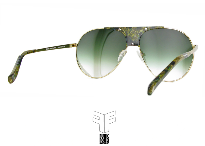Caipirinha C2 green marble BASE 2 green gradient flash mirror lenses inside