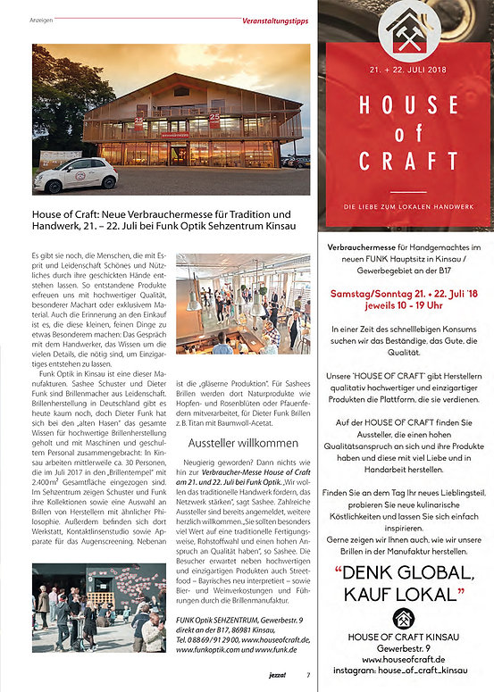 Jezza Magazin House of Craft Kinsau