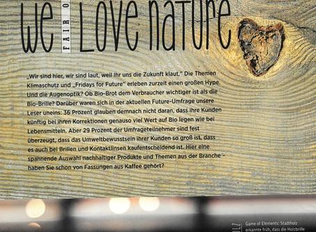 EYEBIZZ 3/19 FairOptics. We Love Nature