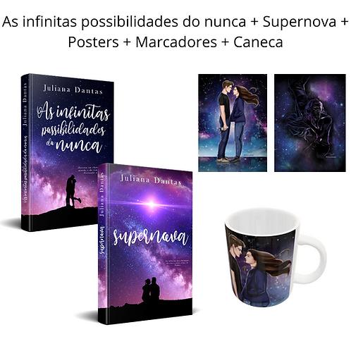 As infinitas possibilidades do nunca + Supernova + Marcadores + Posters +Canecac