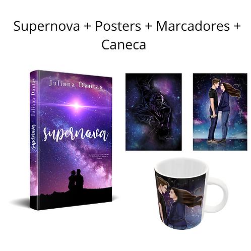 Supernova + marcadores + Posteres + Caneca
