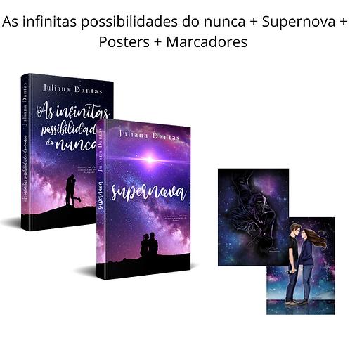 As Infinitas Possibiliades Do Nunca + Supernova + Posters + Marcadores