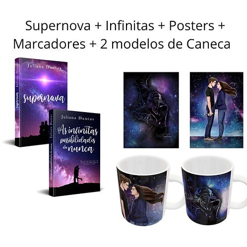 Supernova + Infinitas +Marcadores + Posters + 2 canecas
