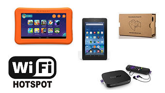 Devices that can be borrowed from the Turner Free Library.