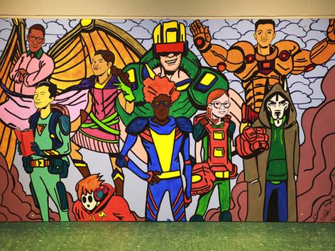 "Unveiling of ""Turner's Titans"" Mural"