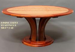 Dining Table Blackwood & Silky Oak 1d-1