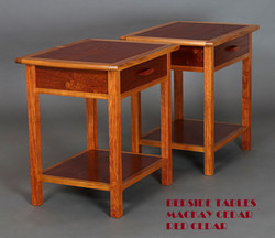 Bedside Tables Red Cedar & Blackwood 1a-1