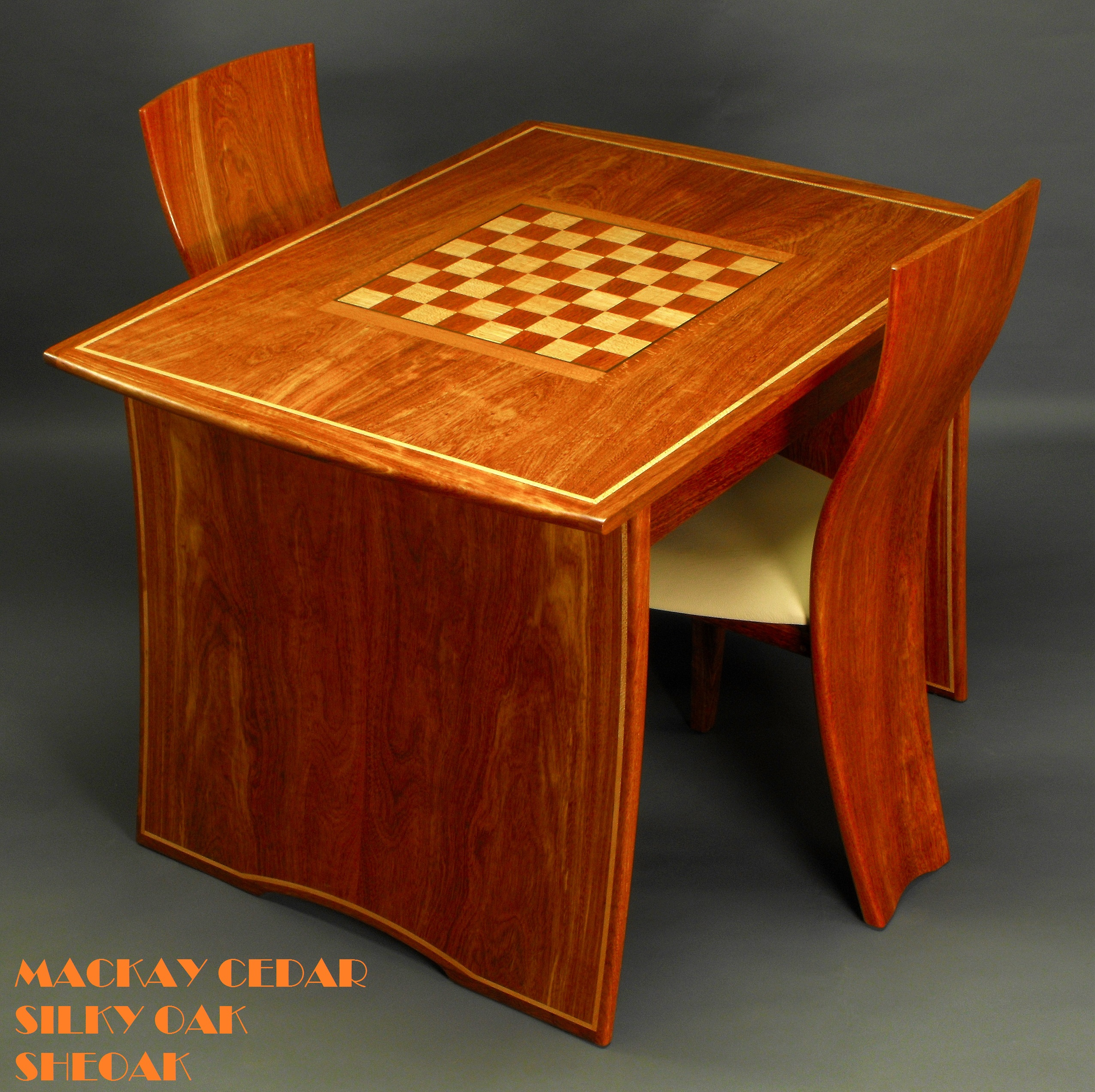 Games Table & Chairs Mackay Cedar 1c-1