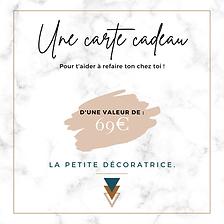 Carte cadeau - 69€ - La Petite Décoratr