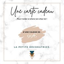 Carte cadeau - 99€ - La Petite Décoratr
