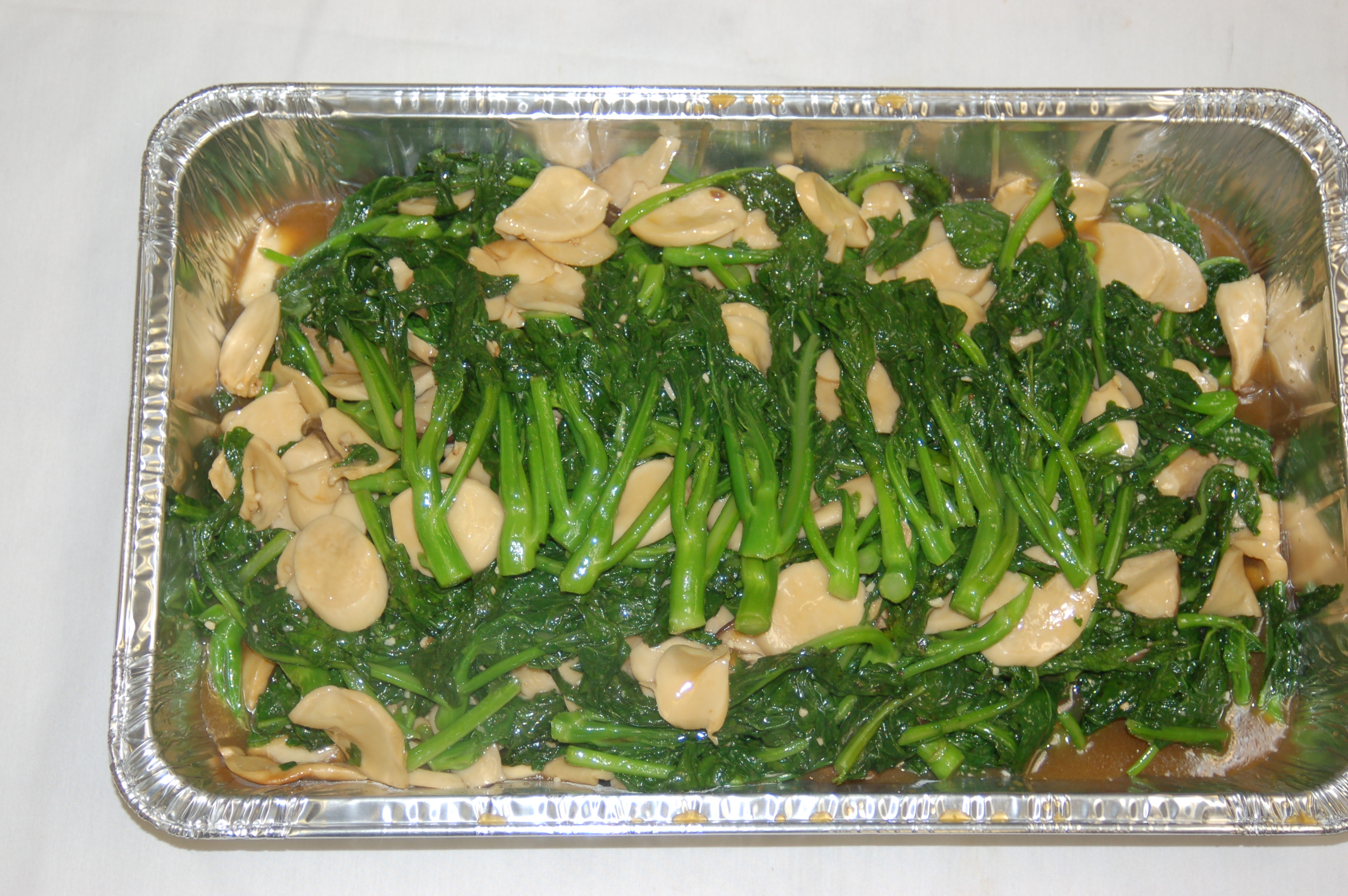 Abalone and Mustard Greens