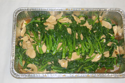 Abalone and Mustard Greens