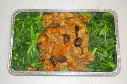 Chicken w/Mushrooms and Greens