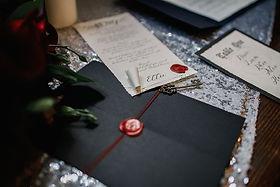 Goth emo punk wedding invitation uk (4).