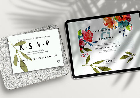 digital rsvp rocha designs cornwall